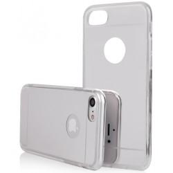 """Sidabrinės spalvos silikoninis dėklas Apple iPhone 7 telefonui """"Mirror"""""""