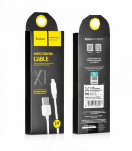 USB kabelis Hoco X1 Lightning 1.0m baltas