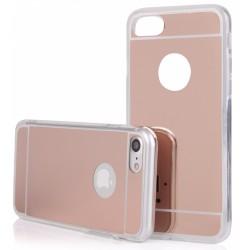 """Rausvai auksinės spalvos silikoninis dėklas Apple iPhone 7 telefonui """"Mirror"""""""