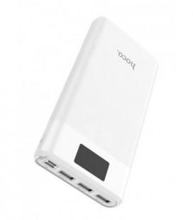 Išorinė baterija Power Bank Hoco B35E su LCD ekranu 3xUSB 30000mAh juoda