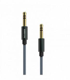 Audio adapteris 3,5mm į 3,5mm Borofone BL3 metalinis pilkas