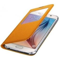 """Originalus geltonas dėklas """"S View Cover"""" Samsung Galaxy S6 telefonui ef-cg920bye"""