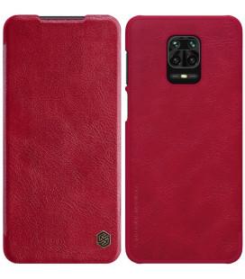 """Odinis rudas atverčiamas dėklas Xiaomi Redmi Note 9S/9 Pro/9 Pro Max telefonui """"Nillkin Qin"""""""