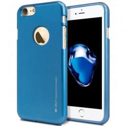 "Mėlynas silikoninis dėklas Apple iPhone 7 telefonui ""Mercury iJelly Case Metal"""