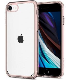 """Rožinis/skaidrus dėklas Apple iPhone 7/8/SE 2020 telefonui """"Spigen Ultra Hybrid"""""""