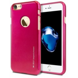 "Rožinis silikoninis dėklas Apple iPhone 7 telefonui ""Mercury iJelly Case Metal"""