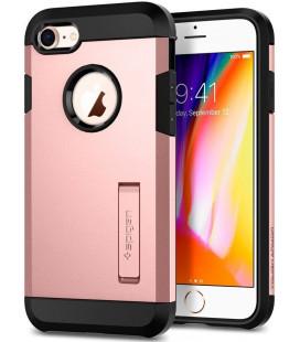 """Rausvai auksinės spalvos dėklas Apple iPhone 7/8/SE 2020 telefonui """"Spigen Tough Armor 2"""""""