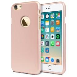 """Rausvai auksinės spalvos silikoninis dėklas Apple iPhone 7 telefonui """"Mercury iJelly Case Metal"""""""