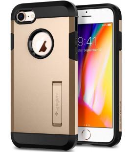 """Auksinės spalvos dėklas Apple iPhone 7/8 telefonui """"Spigen Tough Armor 2"""""""
