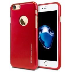 """Raudonas silikoninis dėklas Apple iPhone 7 telefonui """"Mercury iJelly Case Metal"""""""