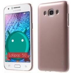 """Rausvai auksinės spalvos silikoninis dėklas Samsung Galaxy J3 2016 J320 telefonui """"Mercury iJelly Case Metal"""""""