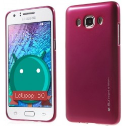 """Raudonas dėklas Mercury Goospery """"Jelly Case"""" Samsung Galaxy J5 telefonui"""