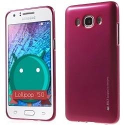 """Rožinis silikoninis dėklas Samsung Galaxy J3 2016 J320 telefonui """"Mercury iJelly Case Metal"""""""