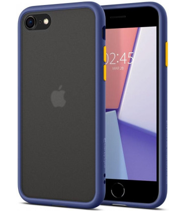 "Mėlynas dėklas Apple iPhone 7/8/SE 2020 telefonui ""Spigen Ciel Color Brick"""