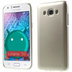 """Auksinės spalvos silikoninis dėklas Samsung Galaxy J3 2016 J320 telefonui """"Mercury iJelly Case Metal"""""""