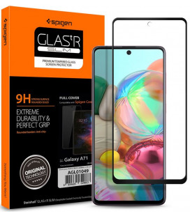 """Apsauginis grūdintas stiklas Samsung Galaxy A71 telefonui """"Spigen Glas.TR Slim"""""""