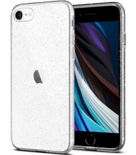 """Skaidrus dėklas su blizgučiais Apple iPhone 7/8/SE 2020 telefonui """"Spigen Liquid Crystal Glitter"""""""