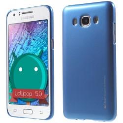 """Mėlynas silikoninis dėklas Samsung Galaxy J3 2016 J320 telefonui """"Mercury iJelly Case Metal"""""""