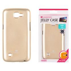 """Auksinės spalvos silikoninis dėklas Mercury Goospery """"Jelly Case"""" LG K4 K130 telefonui"""