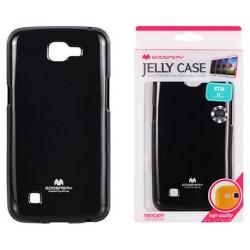 """Juodas silikoninis dėklas Mercury Goospery """"Jelly Case"""" LG K4 K130 telefonui"""