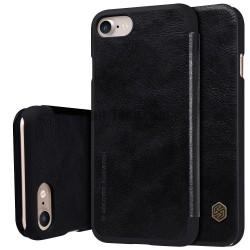 """Odinis juodas atverčiamas dėklas Apple iPhone 7 telefonui """"Nillkin Qin"""""""