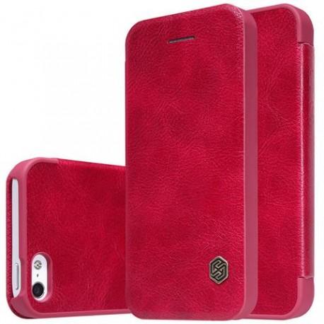 """Odinis raudonas atverčiamas dėklas Apple iPhone 6/6s telefonui """"Nillkin Qin"""""""