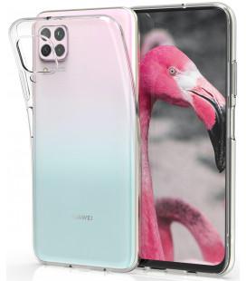 Skaidrus plonas 0,3mm silikoninis dėklas Huawei P40 Lite telefonui