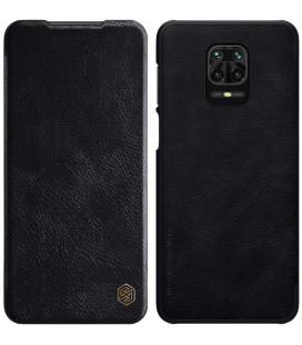 """Odinis juodas atverčiamas dėklas Xiaomi Redmi Note 9S/9 Pro/9 Pro Max telefonui """"Nillkin Qin"""""""