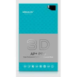 """Lenktas baltas apsauginis grūdintas stiklas Apple iPhone 7 telefonui """"Nillkin 3D AP+ Pro"""""""