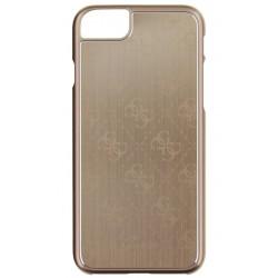 """Auksinės spalvos aliuminis dėklas Apple iPhone 7 telefonui """"Guess"""""""