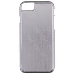 """Sidabrinės spalvos aliuminis dėklas Apple iPhone 7 telefonui """"Guess"""""""