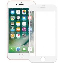 """Stiklo apsauga - lenktas baltas grūdintas stiklas """"Tempered Glass"""" Apple iPhone 7 telefonui."""