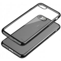 """Juodas silikoninis dėklas Apple iPhone 7 Telefonui """"Glossy"""""""