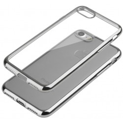 """Sidabrinės spalvos silikoninis dėklas Apple iPhone 7 Telefonui """"Glossy"""""""
