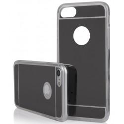 """Juodas silikoninis dėklas Apple iPhone 7 telefonui """"Mirror"""""""