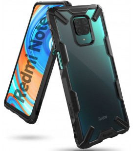 "Juodas dėklas Xiaomi Redmi Note 9S/9 Pro/9 Pro Max telefonui ""Ringke Fusion X"""