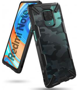 "Juodas (Camo) dėklas Xiaomi Redmi Note 9S/9 Pro/9 Pro Max telefonui ""Ringke Fusion X"""