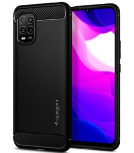 "Juodas dėklas Xiaomi Mi 10 Lite telefonui ""Spigen Rugged Armor"""