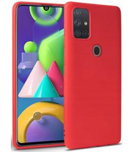 """Raudonas dėklas Samsung Galaxy M21 telefonui """"Tech-protect Icon"""""""