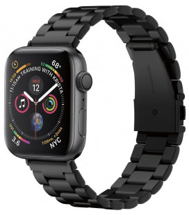 "Juoda apyrankė Apple Watch 1/2/3/4/5 (42/44mm) laikrodžiui ""Spigen Modern Fit Band"""