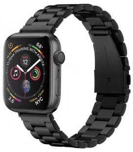 "Juoda apyrankė Apple Watch 4 / 5 / 6 / 7 / SE (42 / 44 / 45 mm) laikrodžiui ""Spigen Modern Fit Band"""