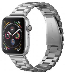 "Sidabrinės spalvos apyrankė Apple Watch 1/2/3/4/5 (42/44mm) laikrodžiui ""Spigen Modern Fit Band"""