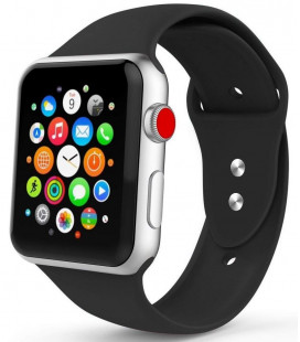 """Juoda apyrankė Apple Watch 1/2/3/4/5 (42/44mm) laikrodžiui """"Tech-Protect Smoothband"""""""