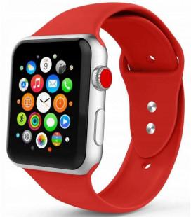 """Raudona apyrankė Apple Watch 1/2/3/4/5 (42/44mm) laikrodžiui """"Tech-Protect Smoothband"""""""
