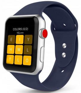"""Mėlyna apyrankė Apple Watch 1/2/3/4/5 (42/44mm) laikrodžiui """"Tech-Protect Smoothband"""""""