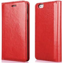"""Raudonas atverčiamas dėklas Apple iPhone 6/6s telefonui """"Proskin"""""""
