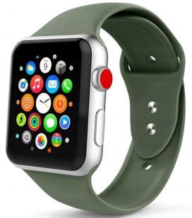 """Žalia apyrankė Apple Watch 1/2/3/4/5 (42/44mm) laikrodžiui """"Tech-Protect Smoothband"""""""