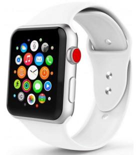 """Balta apyrankė Apple Watch 1/2/3/4/5 (42/44mm) laikrodžiui """"Tech-Protect Smoothband"""""""