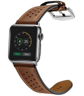 """Ruda apyrankė Apple Watch 2/3/4/5/6/SE (42/44mm) laikrodžiui """"Tech-Protect Leather"""""""
