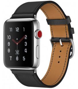 """Juoda apyrankė Apple Watch 1/2/3/4/5 (42/44mm) laikrodžiui """"Tech-Protect Herms"""""""